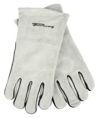 Forney 55200 Split Leather Welding Gloves, Grey