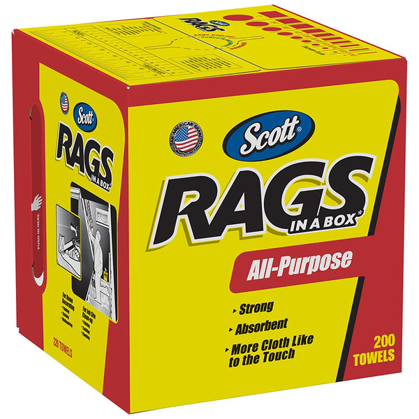 Scott 75260 Rags In-A-Box, White