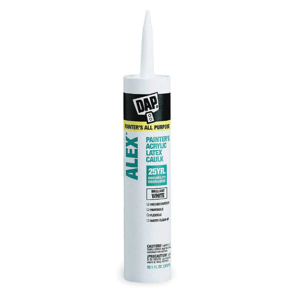 Dap® 18670 Alex® Latex Painters Caulk, 10.1 Oz, White