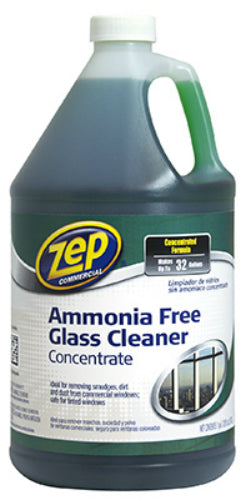 Zep Commercial ZU1052128 Ammonia-Free Glass Cleaner Concentrate, 1 Gallon