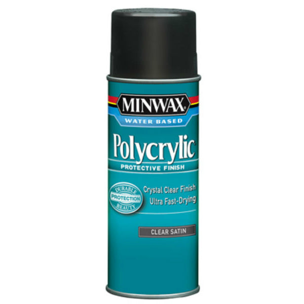 Minwax® 33333 Water Based Polycrylic® Protective Finish, 11.5 Oz, Clear Satin
