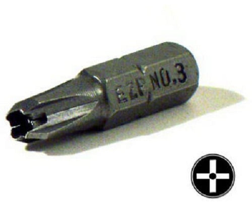 "Eazypower® 19933 Security #3 Phillips Insert Bit, 1"" Length"