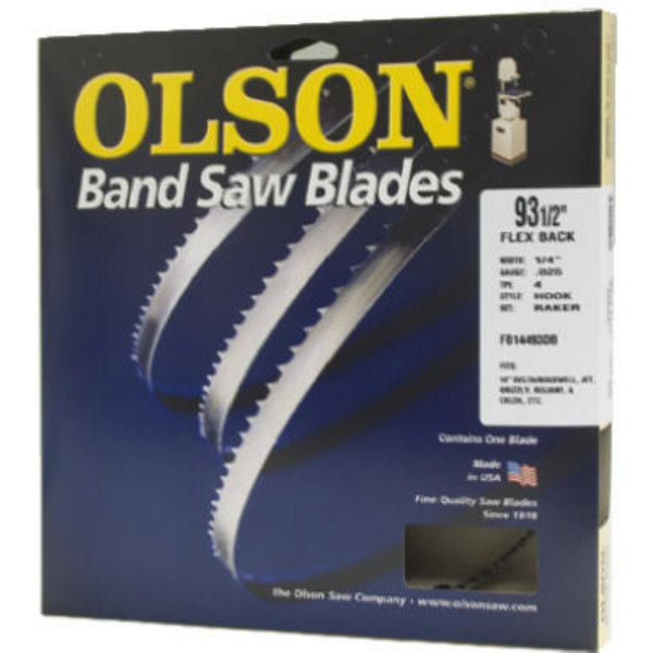 "Olson Saw 14593 Flex Back Band Saw Blade, 6 TPI, 1/4"" x 93-1/2"""