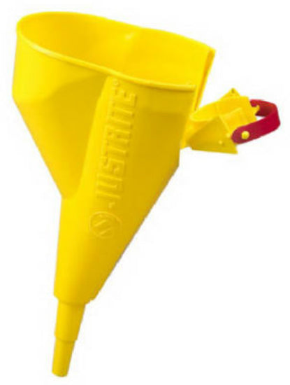 Justrite 11202Y Polypropylene Funnel for Type I Steel Safety Cans