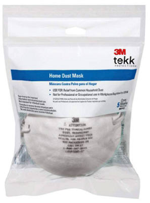 3M 8661PC1-A Tekk Protection Home Dust Mask, 5-Pack