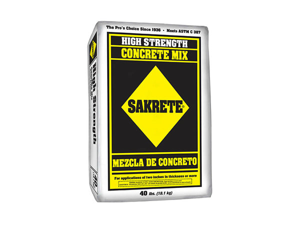 Sakrete® 65201030 High Strength Concrete Mix, 40 Lb