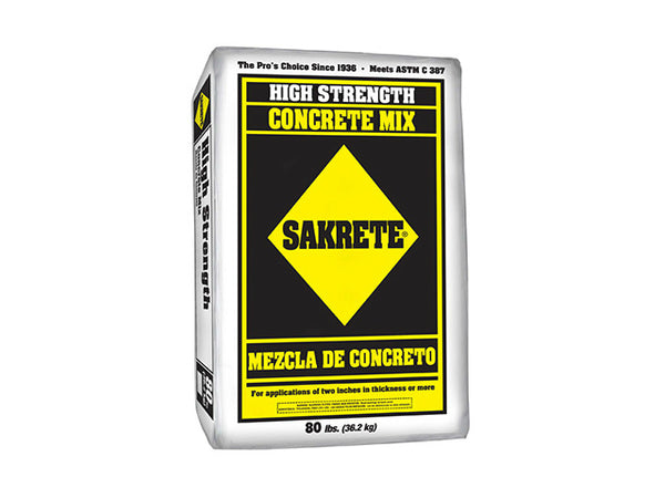 Sakrete® 65200390 High Strength Concrete Mix, 80 Lb