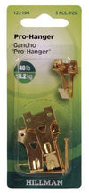 Hillman Fasteners 122194 Two Nail Pro-Hangers, Brass Plated, 40 Lb, 3-Pack