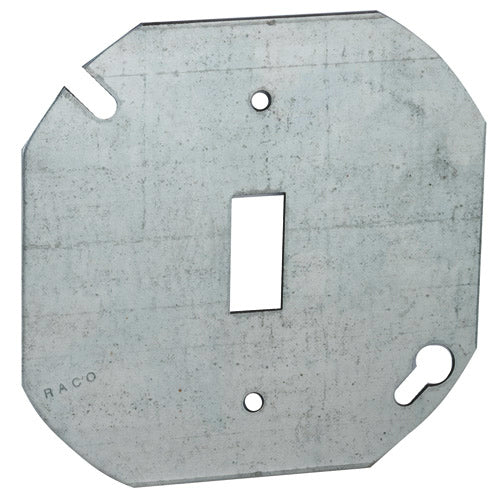 RACO® 729 Octagon Box Cover, Flat for Toggle Switch, 4""
