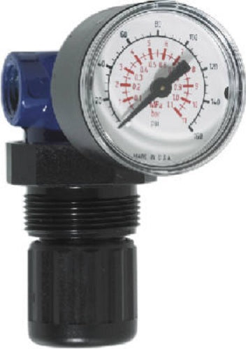 "Campbell Hausfeld MP514803AV Mini Pressure Regulator with Gauge, 1/4"" NPT"