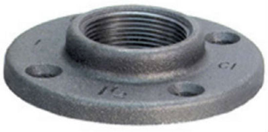 "Anvil® 8700164059 Floor Flange, 1-1/2"", Black"