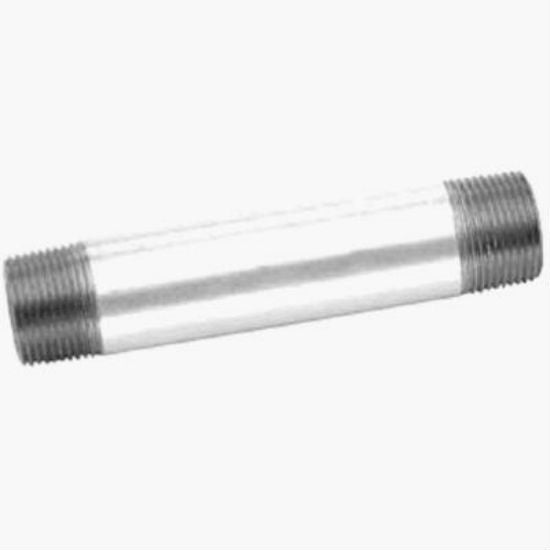 "Anvil® 8700151809 Galvanized Pipe Nipple, 1"" x 4"""