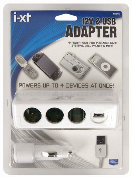 Custom Accessories 10915 I-XT Triple Socket with USB, 12-Volt