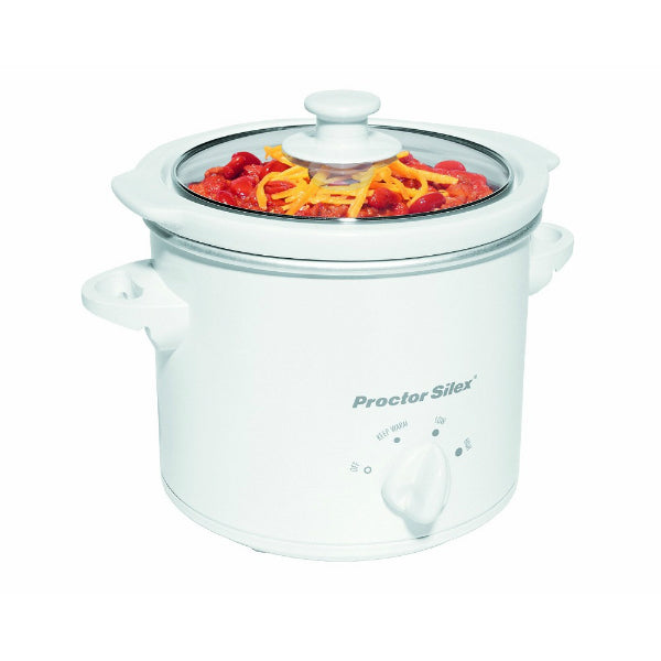 Proctor Silex 33015 Round Slow Cooker with Removable Crock, 1.5 Qt