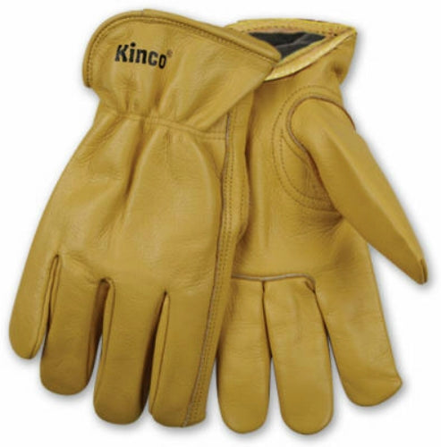 Kinco 98RL-XL Men's Lined Full Grain Cowhide Leather Glove, Extra Large, Golden