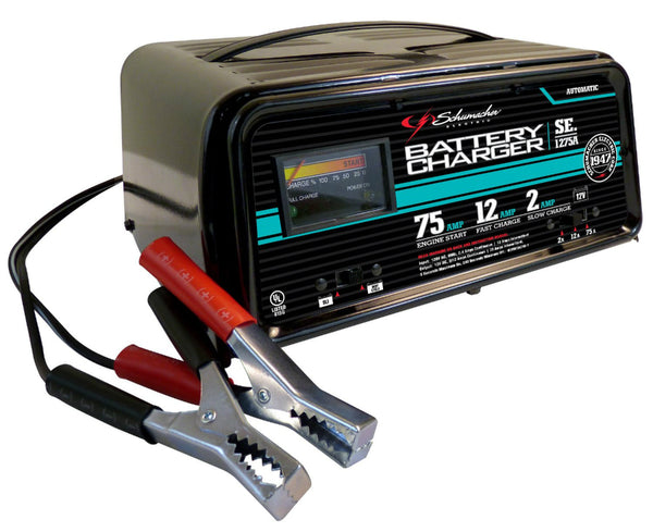 Schumacher® SE-1275A Fully Automatic Starter/Charger with 2 LEDs, 2/12/75A, 12V
