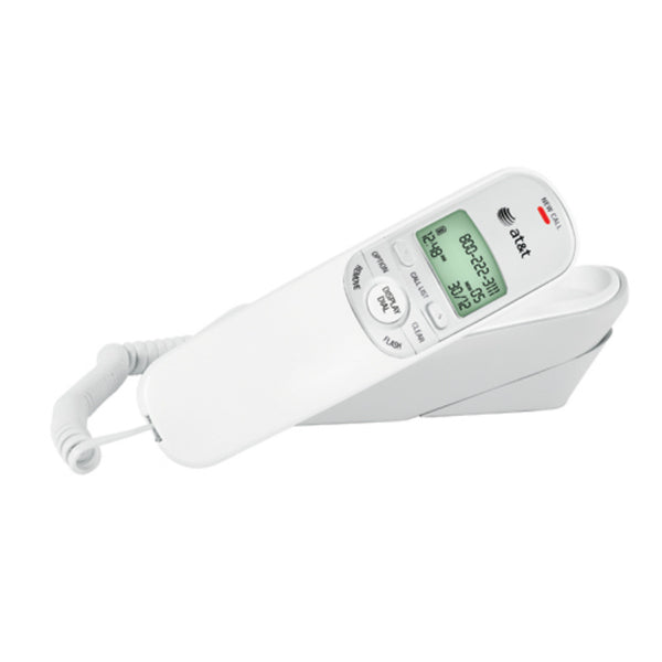 AT&T® TR1909WHITE Trim Line Telephone with Caller ID/Call Waiting, White