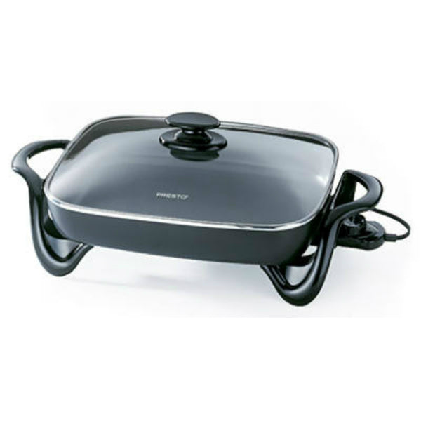 Presto® 06852 Jumbo Size Electric Skillet with Glass Lid, 16""