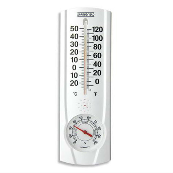 Springfield 90116 Indoor/Outdoor Wall Thermometer with Hygrometer