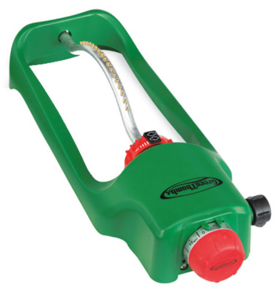 Green Thumb 7800PMTGT Oscillating Sprinkler with Timer, Covers 3500 Sq Ft