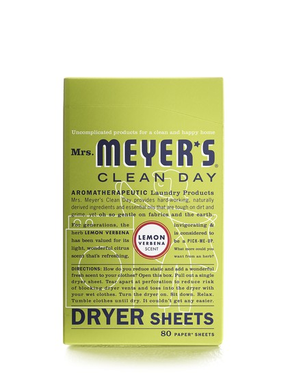 Mrs. Meyer's Clean Day 14248 Lemon Verbena Dryer Sheets, 80-Count
