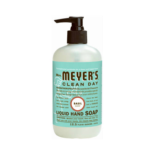 Mrs. Meyer's Clean Day 14104 Liquid Hand Soap, 12.5 Oz, Basil Scent
