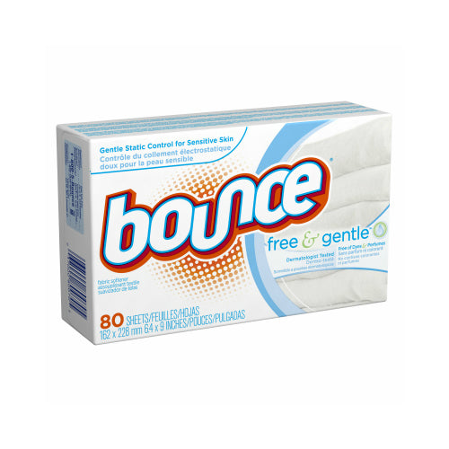 Bounce 80070 Free & Gentle™ Fabric Softener Dryer Sheets, 80-Count