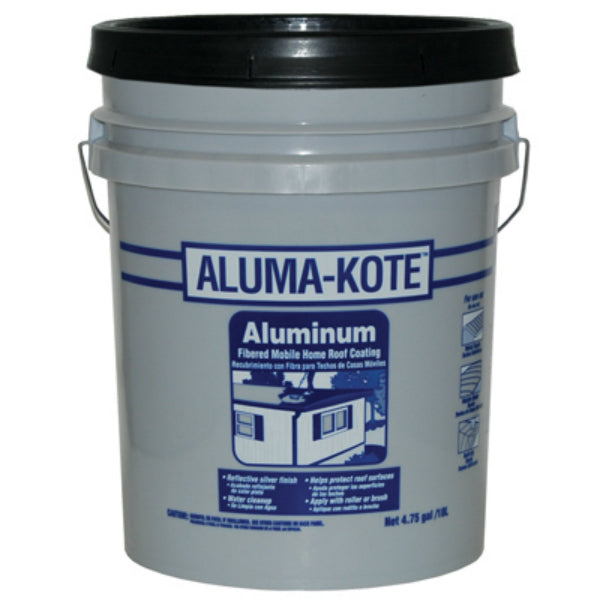 Gardner® 6245-GA Aluma-Kote™ Fibered Aluminum Mobile Home Roof Coating, 4.75 Gal