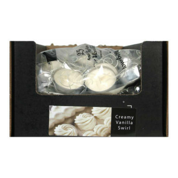 Candle Lite® 1647570 Classics Creamy Vanilla Swirl Tealight Candle, 25 Count