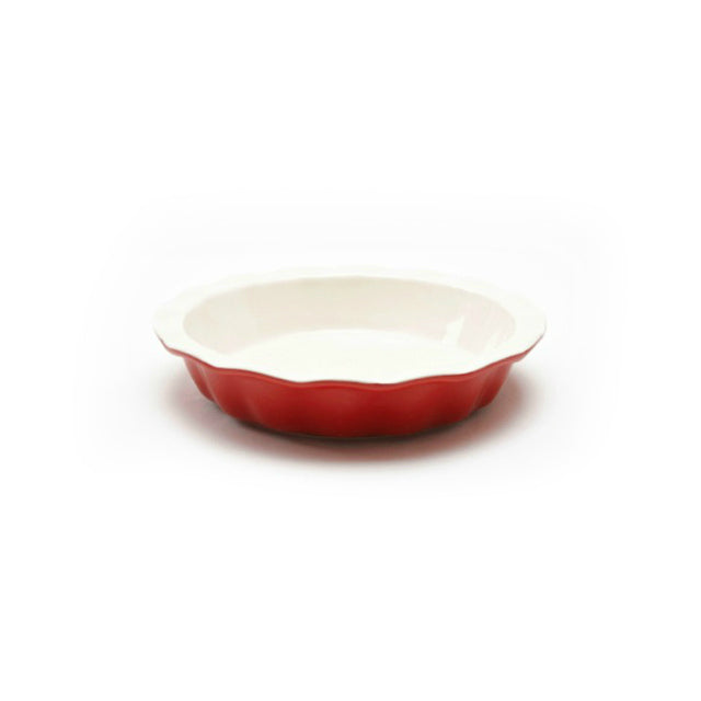 Good Cook™ 04412 Ceramic Pie Plate, Red, 9""