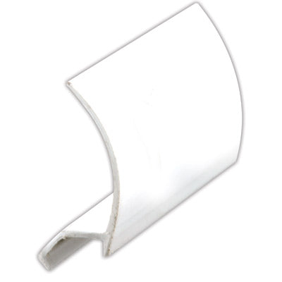 "Slide-Co P-7851 Snap In Rigid Vinyl Glass Retainer, 72"",  White"