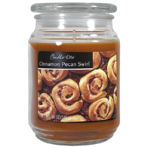 Candle Lite® 3297549 Everyday Cinnamon Pecan Swirl Wax Candle, 18 Oz