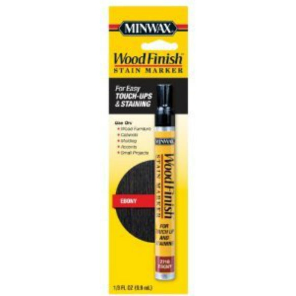 Minwax® 63490 Wood Finish™ Stain Marker, Ebony, 1/3 Oz