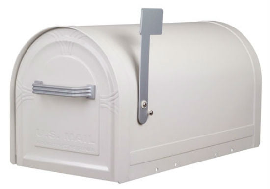 Gibraltar WM16KW01 Wyngate Lockable Rural Mailbox, White