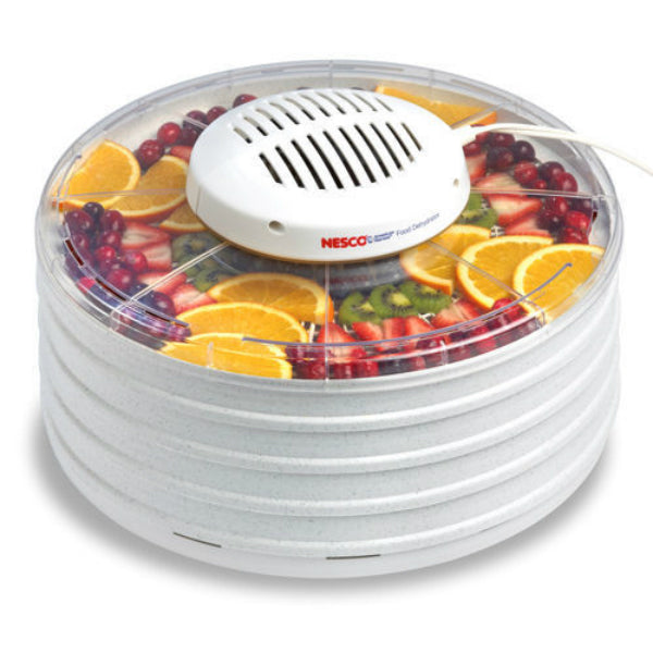 Nesco® FD-37 Food Dehydrator with Clear Cover & 4 Speckled Trays, 400W
