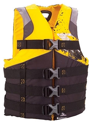Stearns Men's Infinity Antimicrobial Life Jacket, L-XL, Yellow