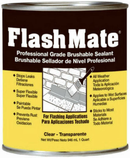 Amerimax 85229 Flashmate Professional Grade Brushable Sealant, 1 Qt