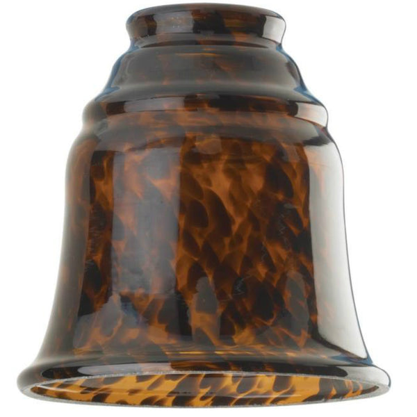 Westinghouse 81356 Tortoise Glass Bell Lighting Fixture Glass Shade, 2-1/4""