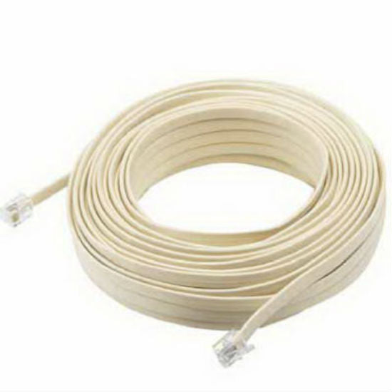 RCA TP443N Phone Line Cords with Connectors, Almond