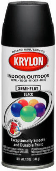Krylon® 53565 ColorMaster™ Paint & Primer, 12 Oz, Semi Flat Black