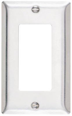 Pass & Seymour Sierraplex Stainless Steel Wall Plate, 1 Gang