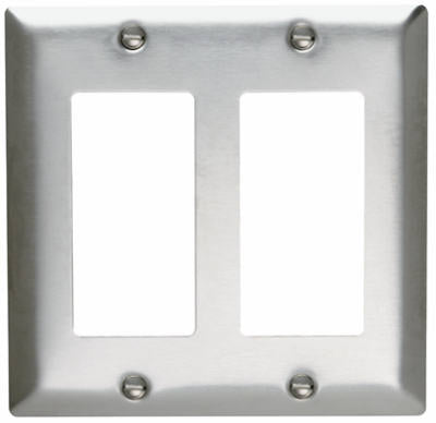 Sierraplex Stainless Steel Wall Plate 2 Gang