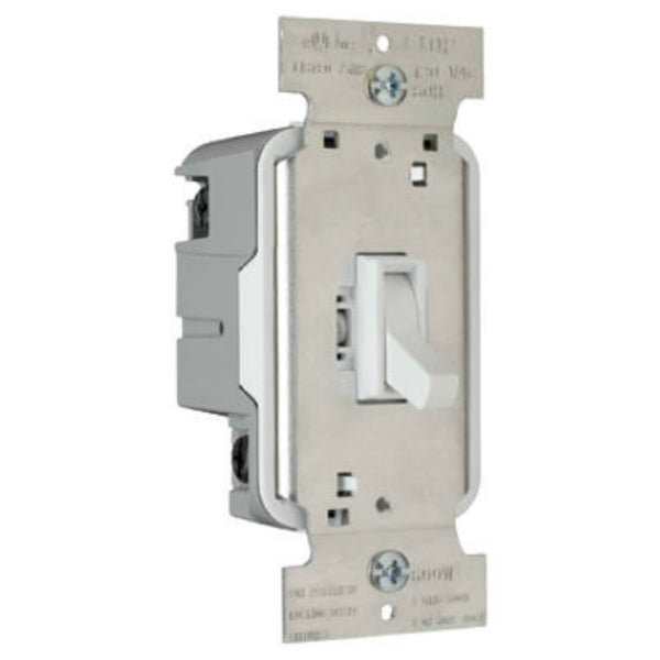 Pass & Seymour T603WV TradeMaster Toggle Dimmer, 600W, White
