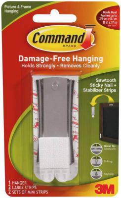 Command 17047 Sticky Nail Sawtooth Hanger