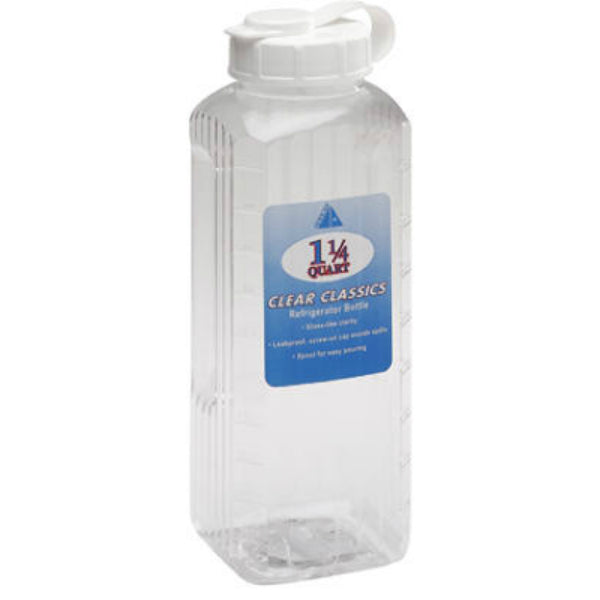 Arrow Plastic 146 Clear Visions Refrigerator Bottle, Assorted, 1-1/4 Qt