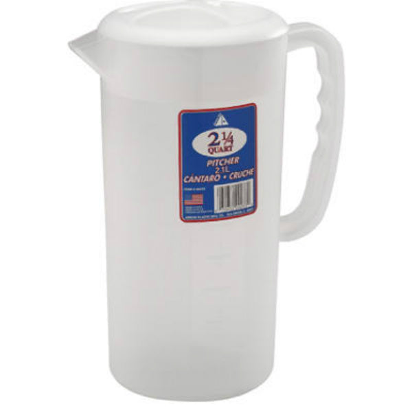 Arrow Plastic® 233 Frostware Pitcher with 3 Position Top, 2-1/4 Qt