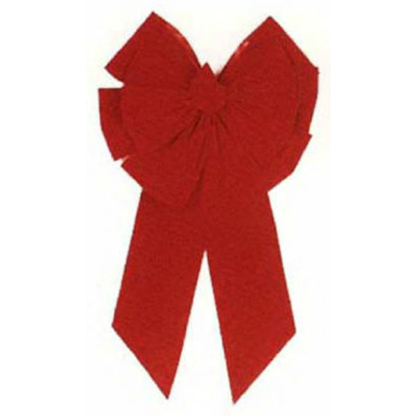 Holiday Trim 7366 Red Velvet Deluxe 11-Loop Bow for Christmas Decor, Medium