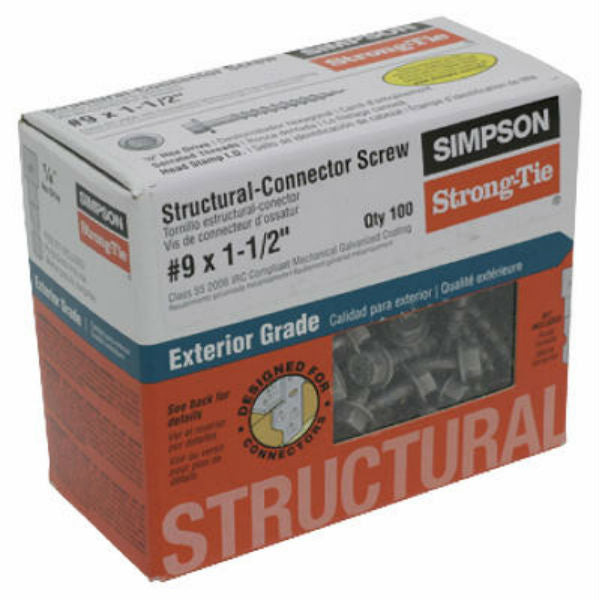 Simpson Strong-Tie SD9112R100 Structural Connector Screws, #9 x 1.5""