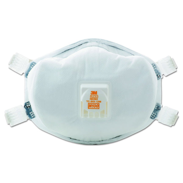 3M 8233 Disposable Particulate Respirator,  N100, White