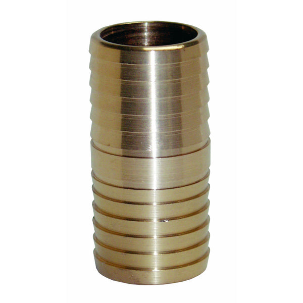 "Water Source™ IC125NL Brass Insert Coupling, No Lead, 1-1/4"" Insert x 1-1/4"" Ins"